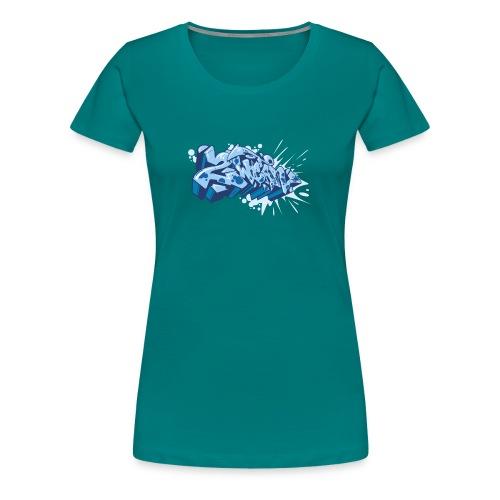 Dae 2Wear graffiti style ver02 Blue edt. - Dame premium T-shirt