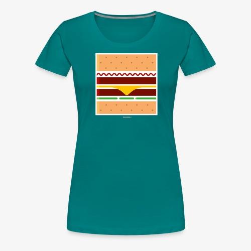 Square Burger - Maglietta Premium da donna