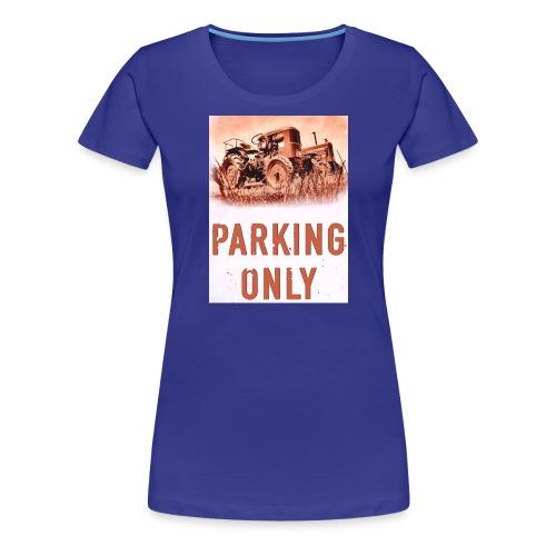 deutz hanomag parking only - Frauen Premium T-Shirt
