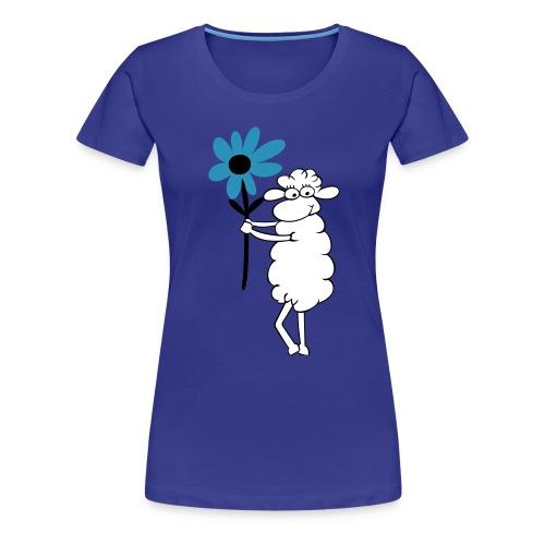blumengeschenk_3farb - Frauen Premium T-Shirt