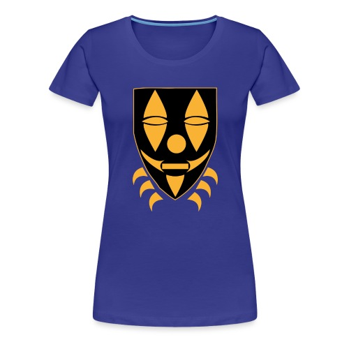 Mask only gold n black png - Vrouwen Premium T-shirt