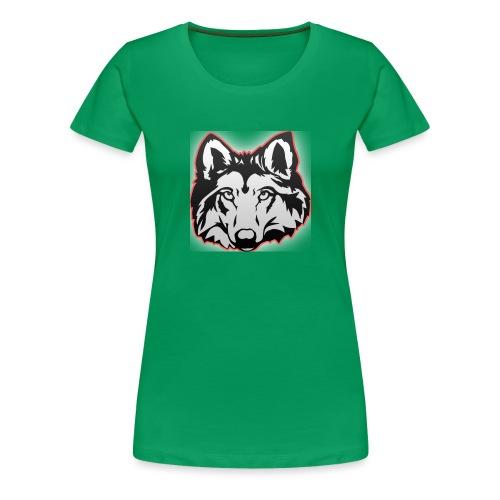 Wolfie (Red) - Women's Premium T-Shirt