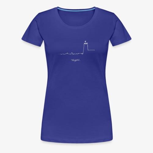 Skyline wit - Vrouwen Premium T-shirt