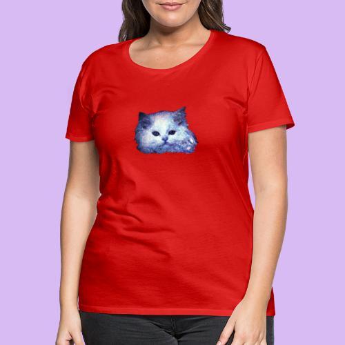 Gatto glitter - Maglietta Premium da donna