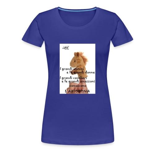 Autoironia horse - Maglietta Premium da donna