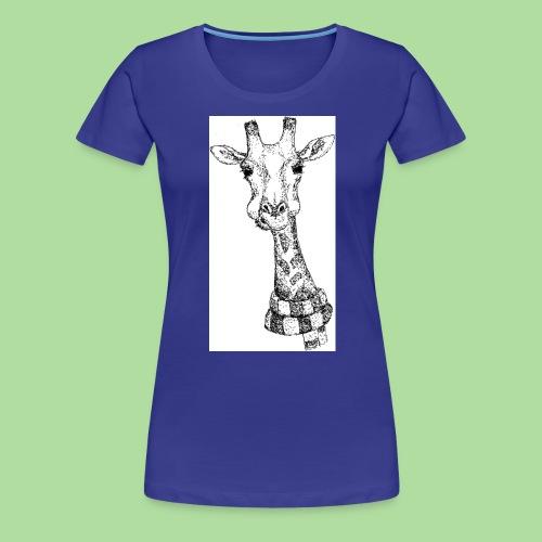 Giraffe mit Schal - Frauen Premium T-Shirt