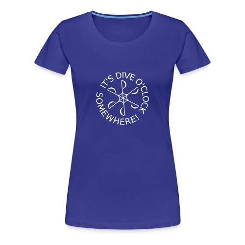 Dive o clock White - Women's Premium T-Shirt