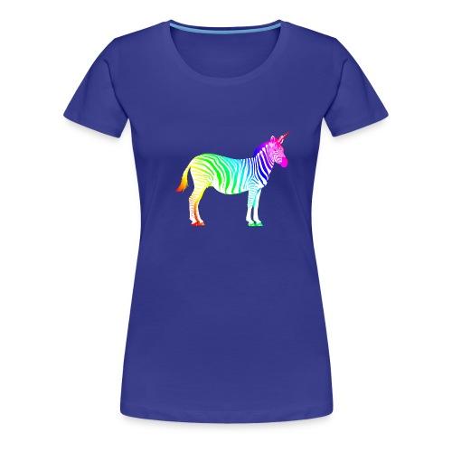 Zebra Einhorn Unicorn Regenbogen Zauber Magie - Women's Premium T-Shirt
