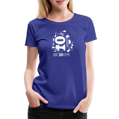 ESME Anniversary Design Weiss - Frauen Premium T-Shirt