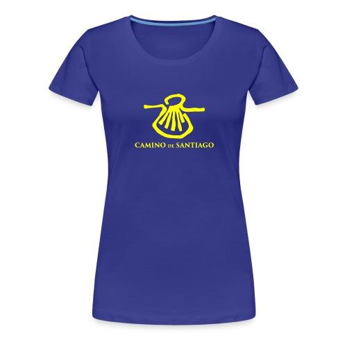 Camino de Santiago, yellow - Dame premium T-shirt