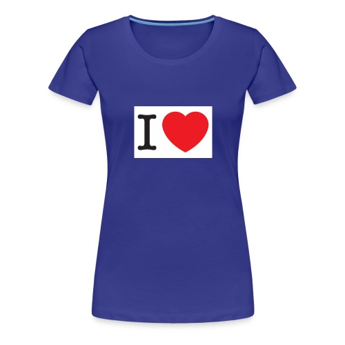i love illustration with heart - Vrouwen Premium T-shirt