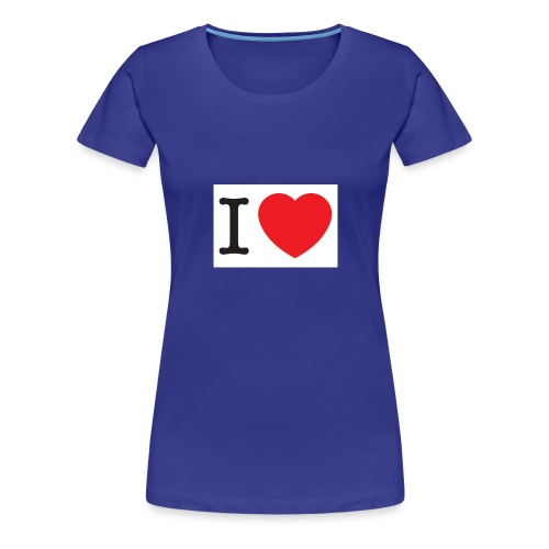 i love illustration with heart - Vrouwen Premium T-shirt
