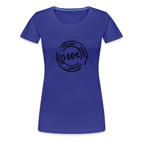 stempelschier - Vrouwen Premium T-shirt