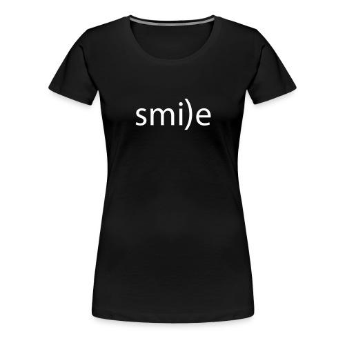 smile Emoticon lächeln lachen Optimist positiv yes - Women's Premium T-Shirt
