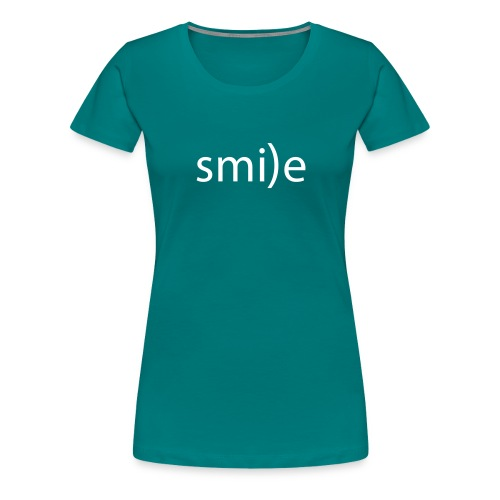 smile Emoticon lächeln lachen Optimist positiv yes - Women's Premium T-Shirt