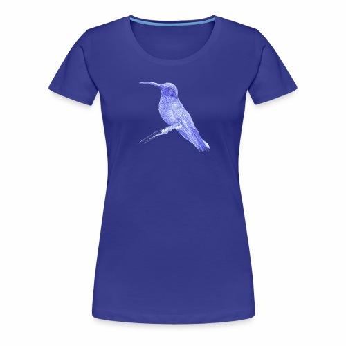 Hummingbird with ballpoint pen - Women's Premium T-Shirt