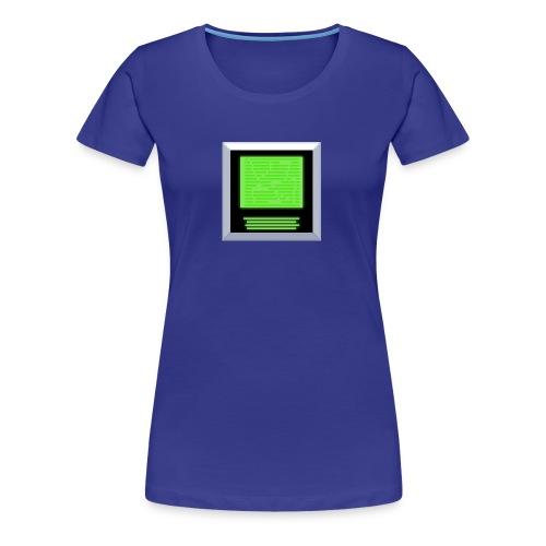 Green Screen of Pixel - Frauen Premium T-Shirt