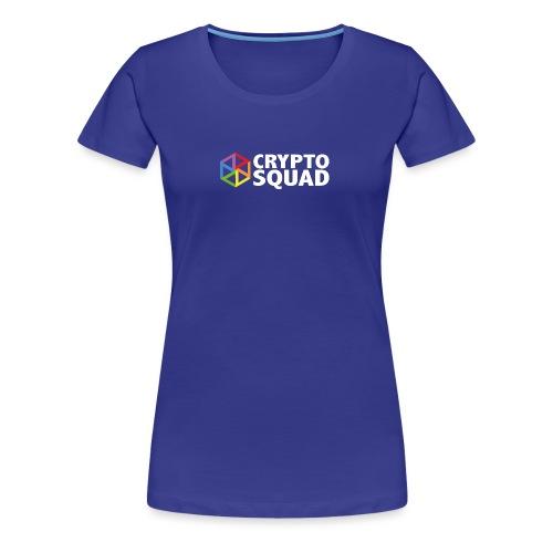 Crypto Squad Large Logo (white) - Women's Premium T-Shirt