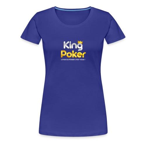 Logo King Poker - T-shirt Premium Femme