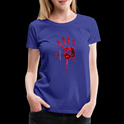 Promote Horror Blood-Soaked Hand - Women's Premium T-Shirt