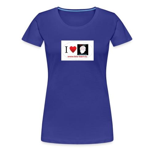iloveletzlearn - Frauen Premium T-Shirt