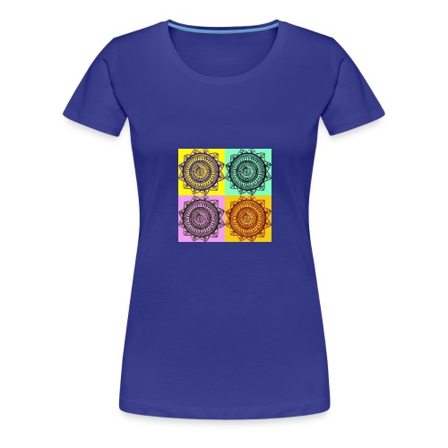 Pop Art Mandala - Women's Premium T-Shirt