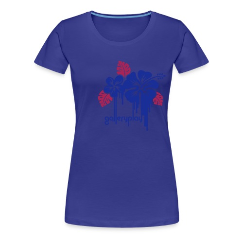 galleryplay flowers - Vrouwen Premium T-shirt