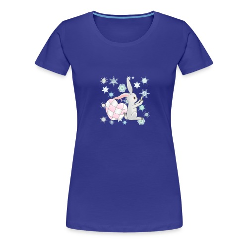 Winterhase mit Herz - Frauen Premium T-Shirt