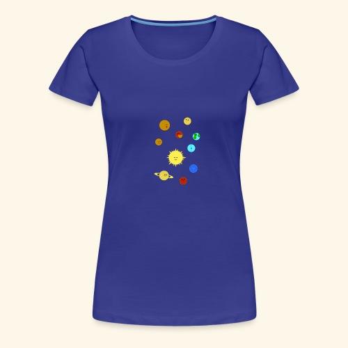 Solsystemet - Premium-T-shirt dam