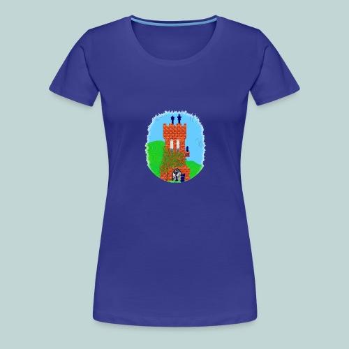 Schachturm romantisch - Frauen Premium T-Shirt