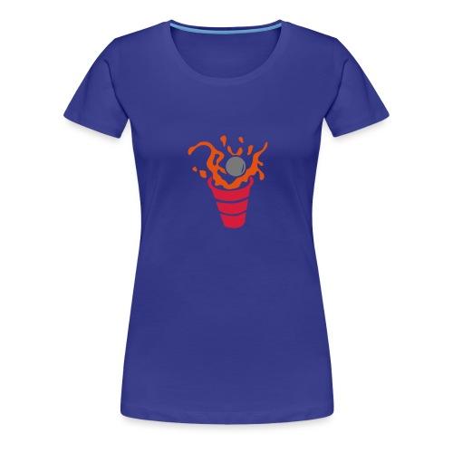 beer pong verre eclaboussure1 - T-shirt Premium Femme