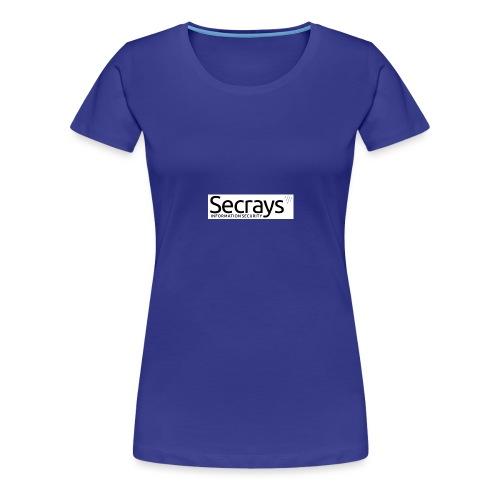 logo musta teksti - Naisten premium t-paita