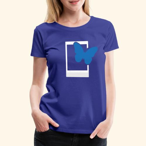 Sofortbild Fotografie - Blauer Schmetterling 2 - Frauen Premium T-Shirt