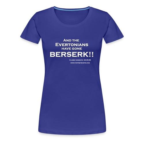 Celebrate Everton FC's greatest ever goal - womens - Women's Premium T-Shirt