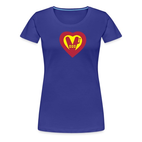 super vegan heart - Women's Premium T-Shirt