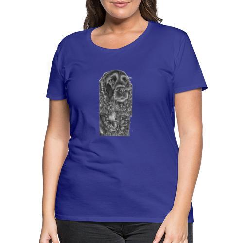 cockerSpaniel black - M - Dame premium T-shirt