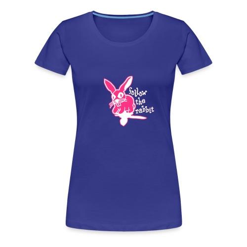 follow the rabbit - Frauen Premium T-Shirt