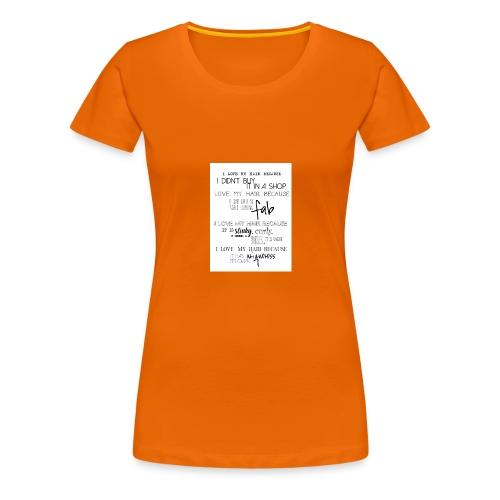 I LOVE MY HAIR - Women's Premium T-Shirt