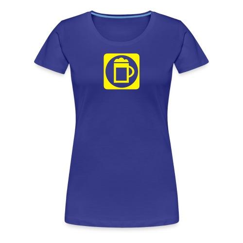 Massbier Piktogramm - Frauen Premium T-Shirt