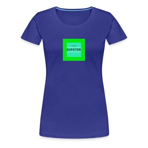 jag är en supoter - Premium-T-shirt dam