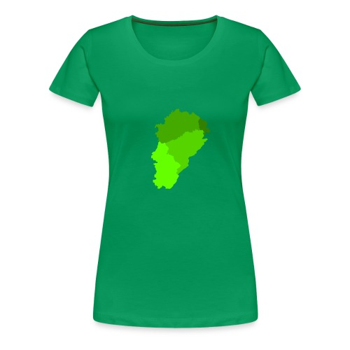 Franche-Comté verte - T-shirt Premium Femme