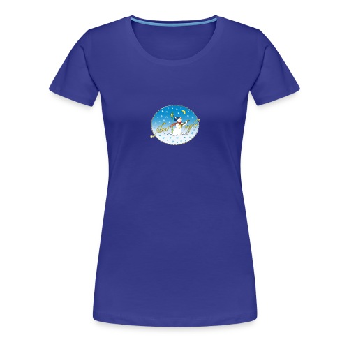 Silent Night Schneemann Mond Laterne xmas - Women's Premium T-Shirt
