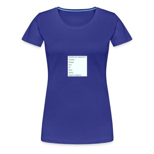 greys anatomy life - Women's Premium T-Shirt
