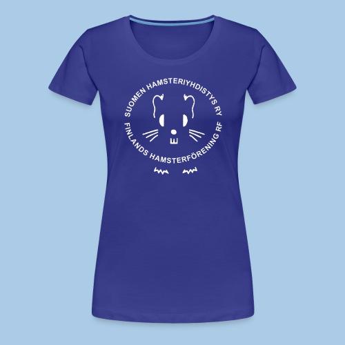 Valkoinen logo - Naisten premium t-paita