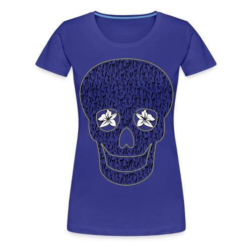 Blue Skull McKoy Transparent - Camiseta premium mujer