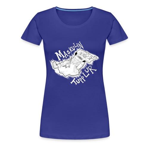 manlig tupplur - Premium-T-shirt dam