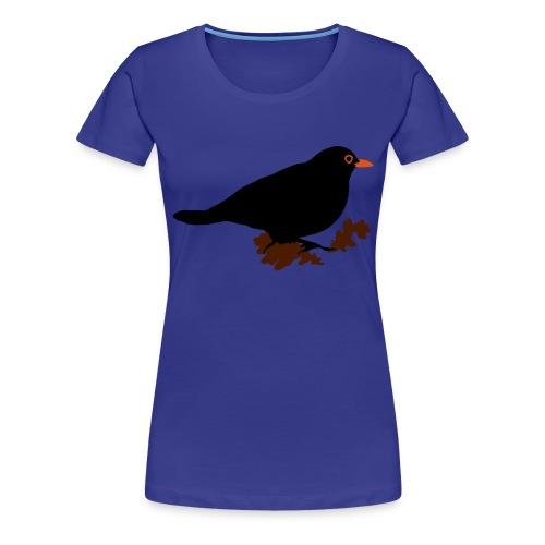 koltrast - Premium-T-shirt dam