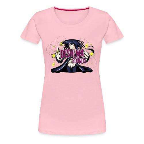 DeshimaTshirt black 4000 png - Women's Premium T-Shirt