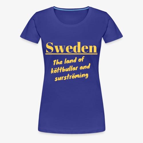 Landet av köttbullar - Premium-T-shirt dam