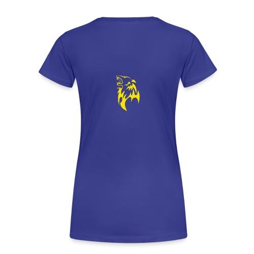 wolf gelb png - Frauen Premium T-Shirt